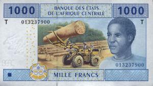 Kongo P.107T 1000 Francs 2002 (1) UNC