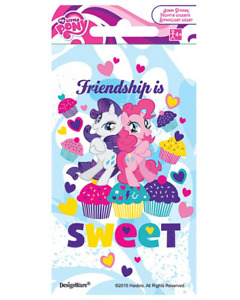 My Little Pony Stickers x 8 - Large Stickers - Favours Birthday Party MLP Party