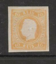 [Portugal 1866/1867 – King Luiz Curved Label] 10 Reis value imperforated