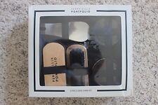 PERRY ELLIS Shoe Shine Kit 5 Piece Set Polish Brushes Shine Cloth Horn Case NEW