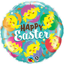 """EASTER PARTY SUPPLIES BALLOON 18"""" EASTER HATCHED CHICKS QUALATEX FOIL BALLOON"""