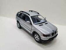 "5"" Kinsmart BMW X5 SUV Diecast Model Toy Car 1:36 Pull Action Silver"