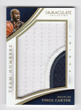 2014-15 Immaculate Collection Team Numbers Patch VINCE CARTER /22 A3744