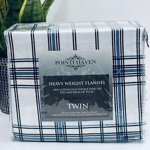 Pointehaven Heavy Weight Flannel 100% Cotton Deep Pocket Sheet Set Twin Mattress