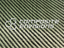 "Carbon Fiber/Yellow Kevlar Cloth Fabric 2x2 Twill 50"" 3k 5.5oz"