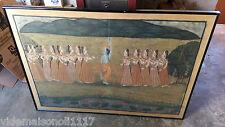 """Ancienne grande peinture sur tissu """"halbar queen"""" style hindou, indien??"""
