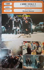 US Police Movie Lethal Weapon 2 Mel Gibson Joe Pesci French Film Trade Card