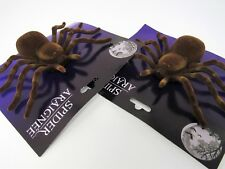 Halloween Spiders Large Brown Set Of 2 Haunted House Decorations 7 inches Wide