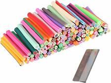 Beauty7 Lot De 100 Bâton Cane Nail Art 3D Fimo Décorations Autocollantes Relie