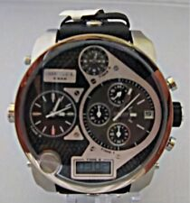 Diesel Men's Mr. Daddy Chronograph Quad Time Black Leather Watch - DZ7125