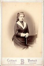 E. Bieber CAB Photo sottili dame-Amburgo 1870er