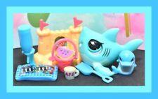 ❤️Authentic Littlest Pet Shop LPS #3560 SHARK Aqua Blue Fish BABY Accessory❤️
