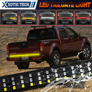 60'' 3Row LED Amber/White/Red Tailgate Strip Light Bar For Nissan Frontier Titan