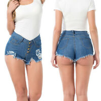 Summer Beach Lady Ripped Casual High Waist Denim Shorts HOT Pants Jeans Trousers