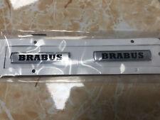 2pcs For Mercedes Benz BRABUS Car Emblem Badge Sticker Side Skirts Badge Logo