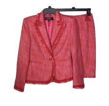 Kasper Skirt Suit 4P 2 Piece Set Womens Office Career Boucle Tweed