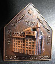 OTTAWA CARLETON VOLKSMARCH CLUB 2ND OTTAWA YEAR ROUND BIG 3D HEAVY METAL PIN