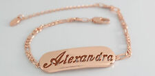 Alexandra - Bracelet With Name - 18ct Rose Gold Plated - Gifts For Her - Fashion
