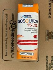 Isosource 1.5 Cal with Fiber Unflavored 250ml Brikpaks 24/Case **2 CASES Special