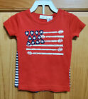 New The Eagle's Eye Patriotic Flag Outfit Size 2T Shirt & Shorts - Guitar Motif