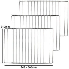 3 x Griglia Forno Estendibile Mensola cromata CREMAGLIERA si adatta Indesit Fornello 345-565mm