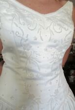 BRIDAL GOWN TALL 10-12 DESIGNER HIGH QUALITY SATIN BEADED