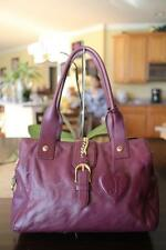 JUICY COUTURE purple burgundy leather bras chain shoulder bag (pu1300