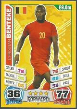 TOPPS MATCH ATTAX  BRAZIL 2014 WORLD CUP- #028-BELGIUM-CHRISTIAN BENTEKE