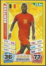 TOPPS MATCH ATTAX  BRAZIL 2014 WORLD CUP- #028-BELGIUM-CHRISTIAN BENTEKE