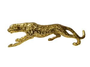 Decorative Gold Leopard Large Metal Statue Jaguar Panther 48 cm Figurine