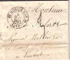 TARN ET GARONNE-MONTAUBAN T12 DU 2 MAI 1845-LETTRE AVEC