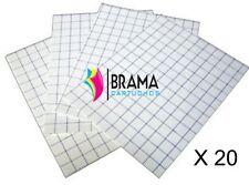 20X Hojas Papel Transfer para Camisetas de Algodon Blancas para Hp Canon