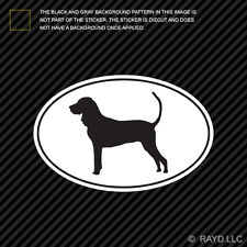 American Black and Tan Coonhound Euro Oval Sticker Die Cut Decal dog canine pet