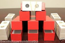 500 NICKEL 2x2 Coin Holder Flips Mylar Cardboard 5 Storage Boxes GUARDHOUSE 21mm