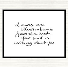White Black Dreams Are Illustrations Quote Mouse Mat Pad