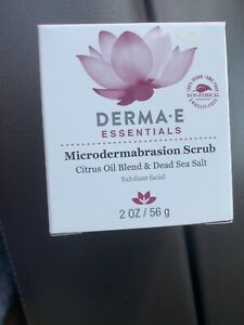 Derma E Essentials Microdermabrasion Scrub 2.0 oz Brand New .