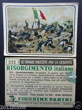 figurines cromos picture cards figurine risorgimento italiano 232 panini 1975 br