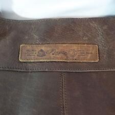 Fossil Shoulder Bag Vintage Look Dark Brown Leather, zipper and magnet closure