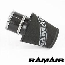 Ramair Negro Medio De Aluminio inducción Filtro De Aire 100 Mm Id Cuello y acoplamiento