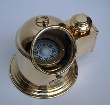 Nautical binnacle boat oil lamp brass ship compass gimbal home & office decor