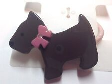 Gymboree Pet Detective Ponytail Holder NWT Defects Black Dog Puppy Girl Cute Hai