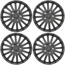 "STREETWIZE swux62 15 ""MATT BLACK 4 x WHEEL COVER SET / coprimozzi Adatta Ford Focus"