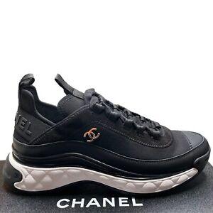 NIB 2021 Chanel Black calfskin 37-38-39-40 EUR Sizes Sneakers Runners