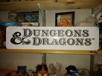 "Dungeons and Dragons Sign, D&D 24""x6"" Display. Role Playing game, RPG!"
