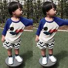 Kids Baby Boys Cloud Pullover Tops Long Sleeve T-Shirt Sweatshirt Size 1 2 3 4 5