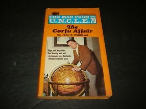 Man From UNCLE Paperback Book - The Corfu Affair #20 - 1st Print - NICE!