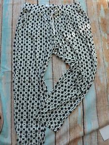 Pumphose Sheego Hose Damen Gr. 40 bis 56 schwarz weiß (802) (398)
