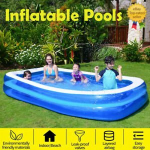 6size Inflatable Family Garden Outdoor Paddling Swimming Pool Fun Summer Relax-
