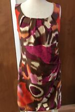 Tribal Brand Dress Ruched Side Flattering Women's Size 10