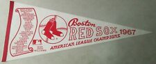 BOSTON RED SOX AMERICAN LEAGUE CHAMPIONS 1967 MLB PENNANT FLAG FELT